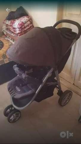 Baby Stroller Black