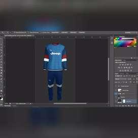 Gambar desain kaos jersey
