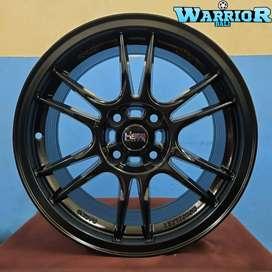 Velg Mobil Honda Brio Ring 15 HSR NOSHIRO Lobang 4X100 Matt Black