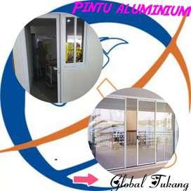 King pintu aluminium berkualitas berbagai tipe