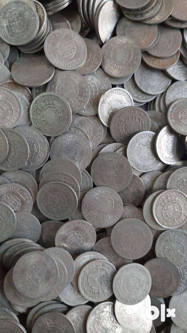Portuguese India 60 Centavos coins at 40rs each