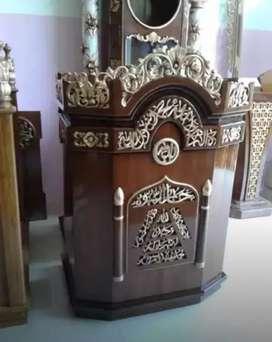 mimbar masjid kubah bahan jati murah