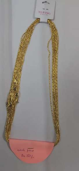 Gold Colored Thin Chains