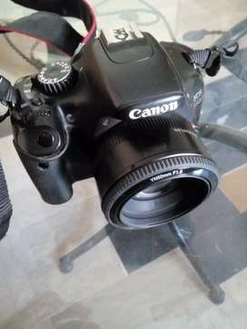 I want to sale my DSLR camera 550d Canon in new condition with 2 lens
