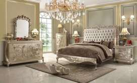 Silver and modern stylish bed set maker