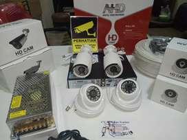CCTV AHD,SPC,HIKVISION TERMURAH PANTAU DARI HP,DVR 4CH,HD 500GB,1080P