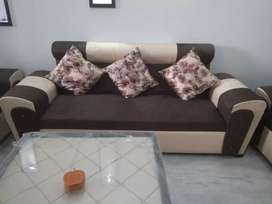New sofa for sale ( 7 seater sofa and glass table)