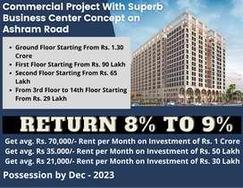 506 Feet Pre-Leased Office for Sale in Ashram Road || 8% Avg. ROI