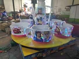 Pabrik mainan odong odong kereta mini komedi putar cangkir RA