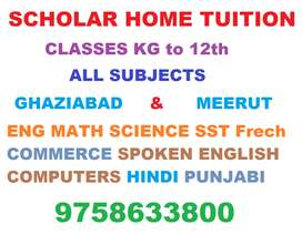Req HOME TUTORS KG to 12th all subjects, free registration, M/Fem