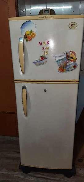White Color LG Double Door Fridge