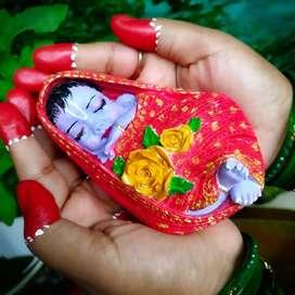 Newborn baby krishna