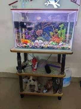 Aquarium and  table