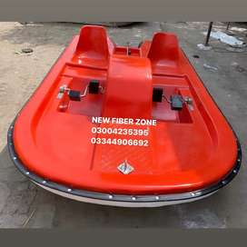 Fiberglass pedal boat for 2 persons