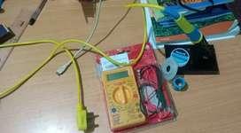 Multimeter and soldering iron kit.