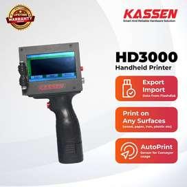 Kassen HD-3000 Smart Handheld Inject Printer hitam