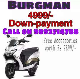 Burgman street on lowest Down payment