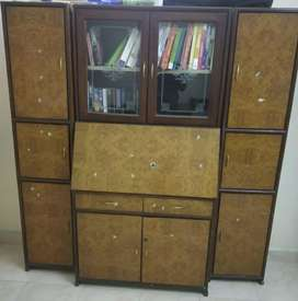 Wooden cabinet cum study in set of three units . Also avl as indl unit