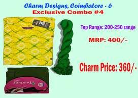 Charm Designs - Diwali Combo Sale: Designer/Festive Kurtis & Sarees
