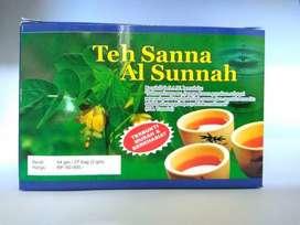Teh sanna al sunnah teh pelangsing herbal teh daun sana, siena, cina