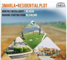 3 marla, 5 years payment plan plot for sale in lahore