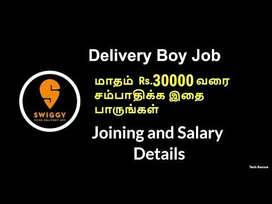Urgent opening for delivery associate - Swiggy