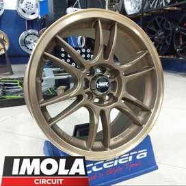 Velg mobil racing murah ring 15 HSR wheel baut 4x100 Bronze Gresik