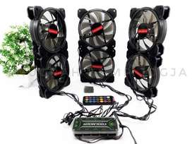 fan casing COOLMOON RGB isi 6 pcs