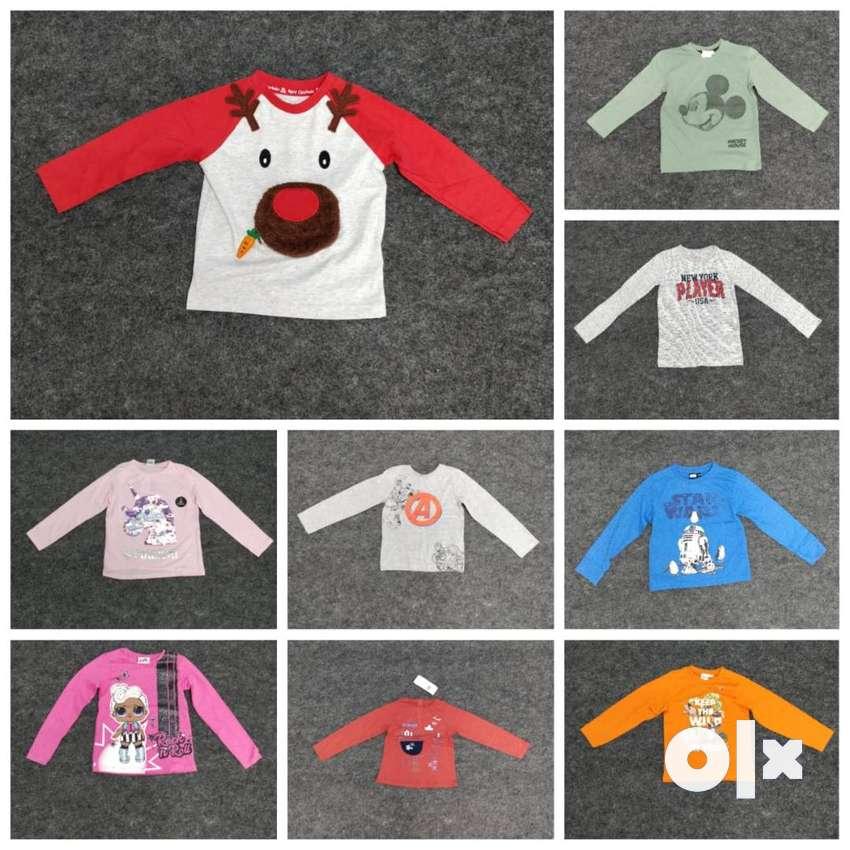 Wholesale Boys and girls tshirt export pyjama stocklot trackpant 0