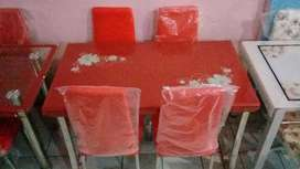 Promo harga meja makan k 58 4 kursi merah importa