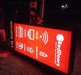 Neon Box Acrylic Akrilik Huruf Timbul Letter Timbul Letter Sign