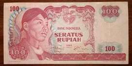 Uang Kertas Rp. 100 Tahun 1968