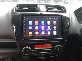 Paket Android 7in + frame buat Mitsubishi Mirage