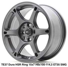 velg murah TE37 JD614 HSR R15X7 H8X100-114,3 ET38 SMBMR