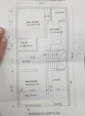 80 sqyd newly built east facing duplex for sale