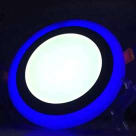 Downlight panel led 2 warna 18w+6w Inbow lampu plafon ceiling ID83