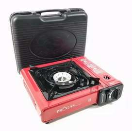 PROGAS Kompor Gas Mini Portable 2 in 1 BBQ Gas Kaleng Progas