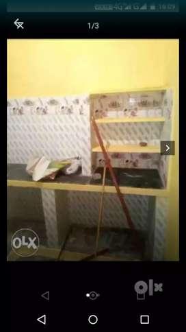 Big room wd tiles kitchen almirah bed lower rajeev nagar rispana pool