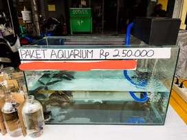 Aquarium ikan 60 x 30 x 35 cm