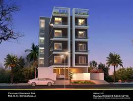 Main s.p. Marg on road commercial property with parking space for rent