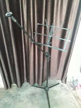 Notation stand with mic stand 2 in 1