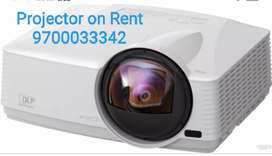 Projector on Rent with all screen laptop sound speaker
