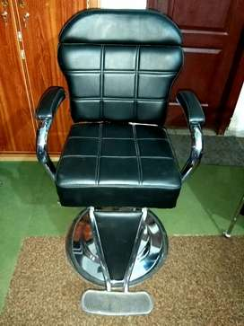 Salon chair and makeup trolley