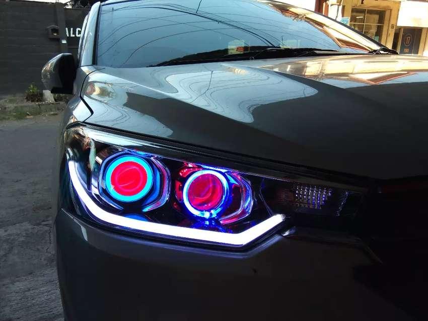 lampu projie hid led mobil super terang bukan projie kaleng kaleng 0