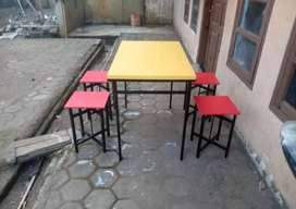 Meja kafe meja makan meja cafe meja lipat meja angkringan meja kedai
