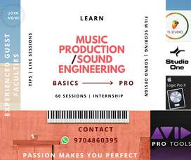 MUSIC PRODUCTION & SOUND ENGINEERING