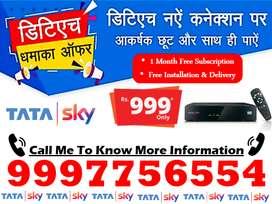 Dish Tv Tata Sky SD/HD Box tatasky Diwali 70% Off Buy Now!!