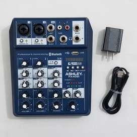 Mixer 4 channel Recording Audio ASHLEY FX402i Bluetooth PC Soundcard
