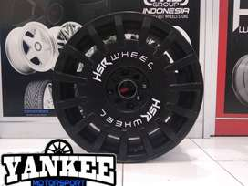 Cicil Velg Mobil HSR Model RALLY Ring 17 PCD 4X100-114,3 DP 10% SMB