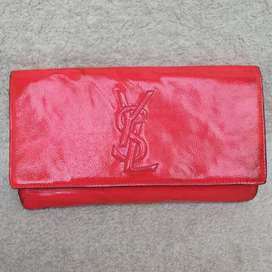 Clutch YSL pink patent leather